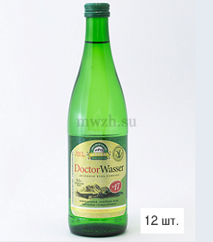 Doctor Wasser Ессентуки №17 лечебная вода 0,5л стекло (12 бутылок)