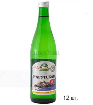 Нагутская 26 лечебно-столовая минеральная вода 0,5л стекло  (12 бутылок)