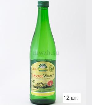 Doctor Wasser Ессентуки №4 лечебно-столовая минеральная вода 0,5л стекло  (12 бутылок)