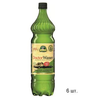 Doctor Wasser Ессентуки №17 лечебная минеральная вода 1,5л пэт (6 бутылок)