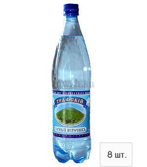 Графский горный источник - негазированная вода 1л пэт (8 бутылок)