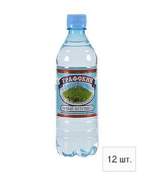 Графский горный источник минеральная вода 0,5л пэт (12 бутылок)