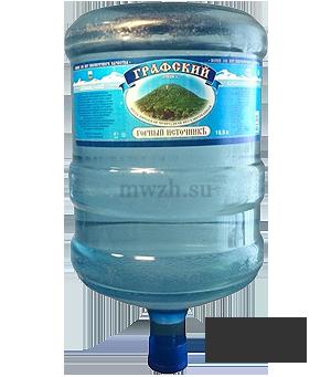 Графский горный источник минеральная вода 19л (одноразовая)