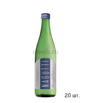 Nagutti столовая газированная минеральная вода 0,5л стекло (20 бутылок)